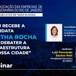 """AEERJ recebe candidata Martha Rocha para debater a """"Infraestrutura de Nossa Cidade"""""""