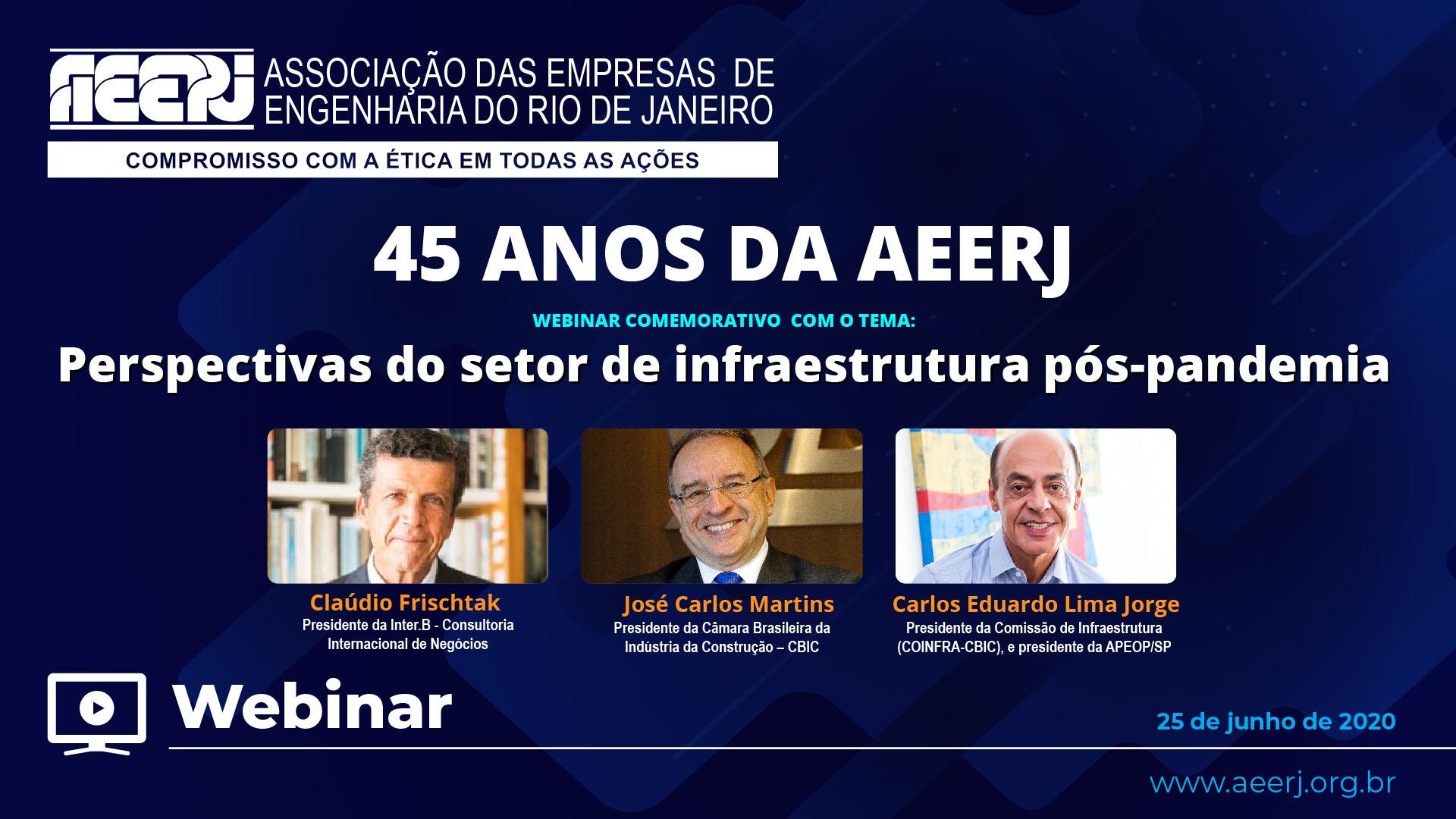 45 anos da AEERJ: Perspectiva do Setor de Infraestrutura Pós-Pandemia